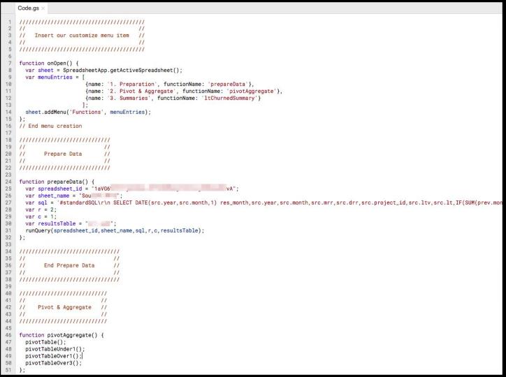 Предобработка данных с помощью Apps Script