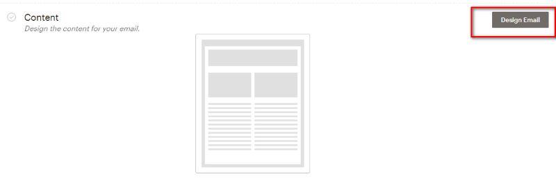 создание письма в мейлчимп