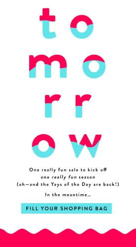 Piece of a teaser email that was used to promote the sale of the Loft clothes brand