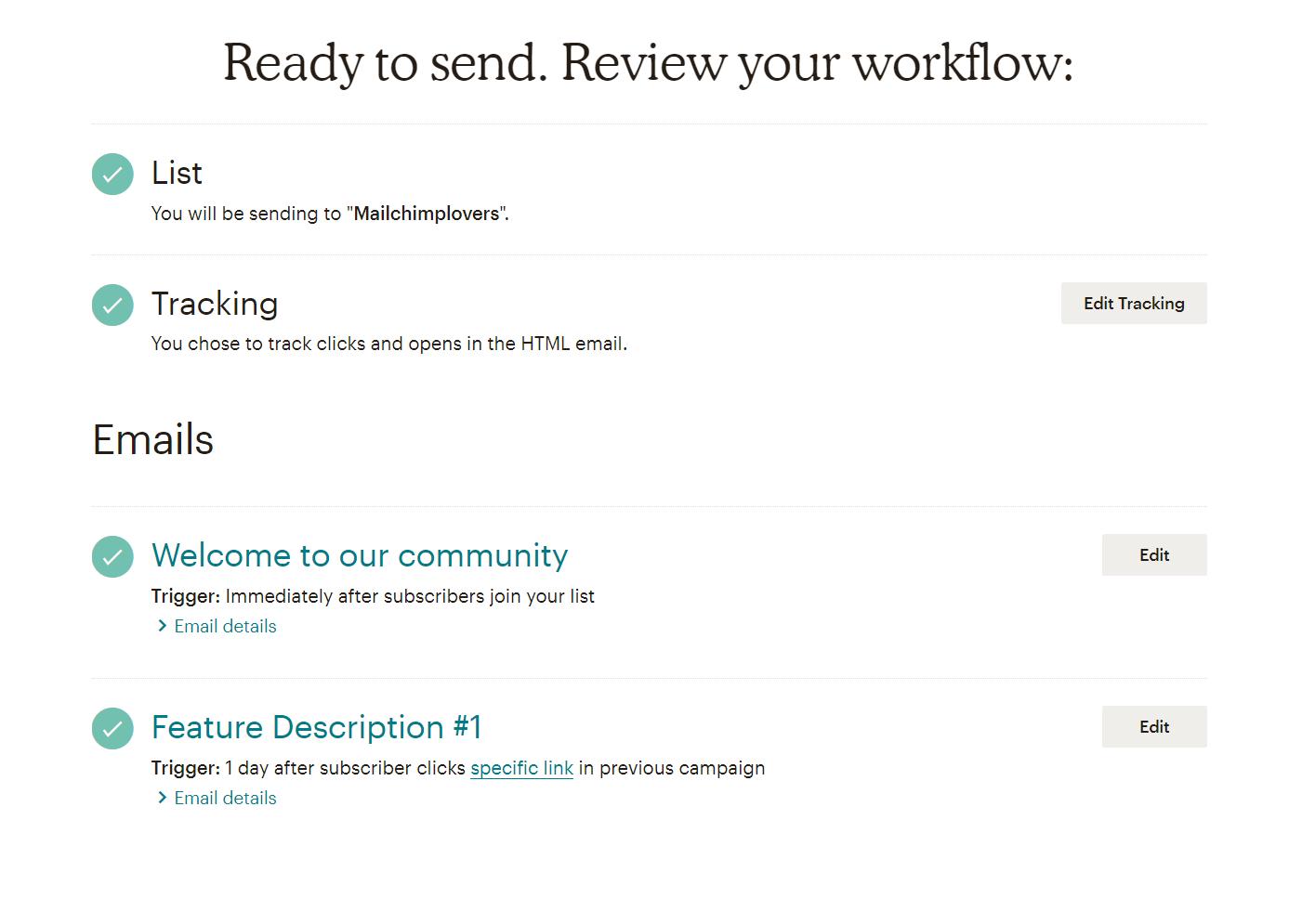 Создание приветственной welcome-цепочки писем в Mailchimp, mailchimp рассылка писем