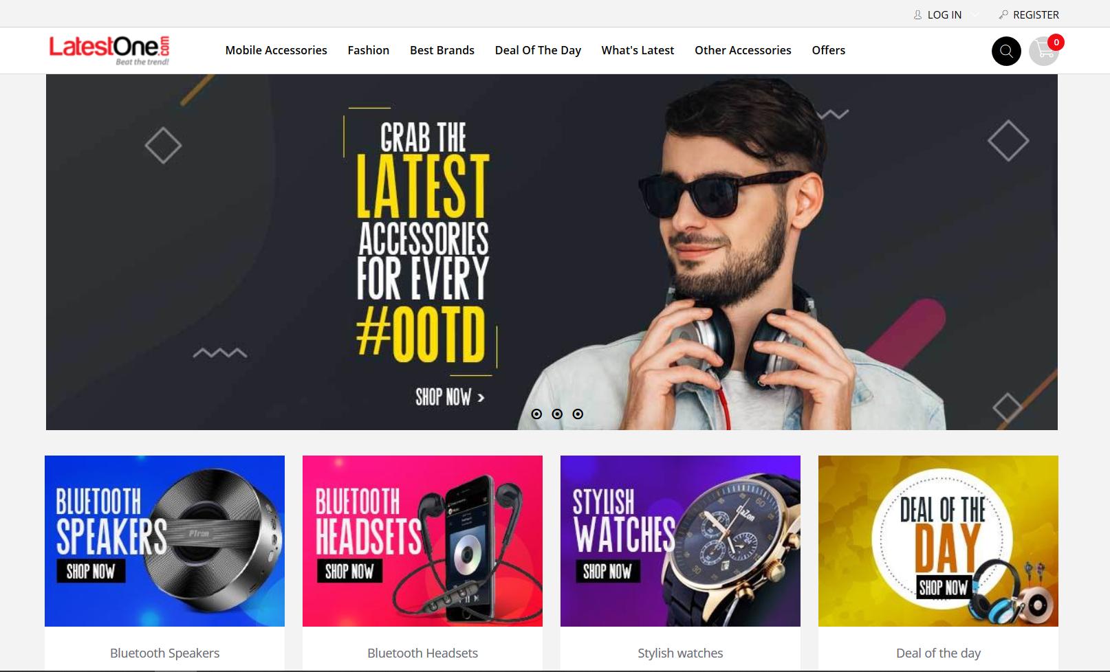 Пример сайта на шаблоне Shopify