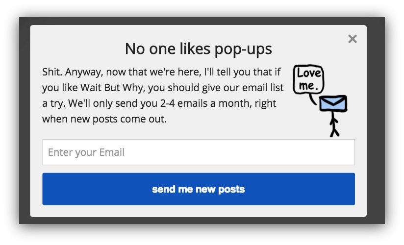 Пример pop-up