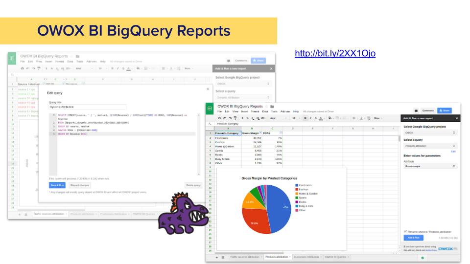 Расширение для забора данных из bigQuery и отправки в Google Таблицы