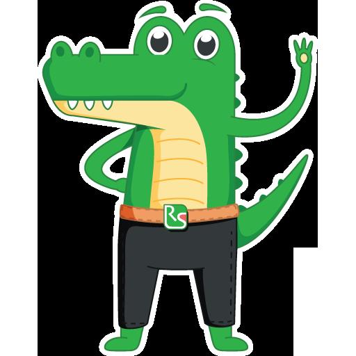 Стикерпак с крокодилом