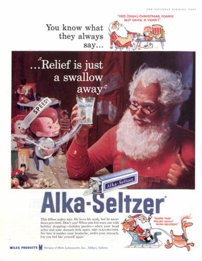 Рождественская реклама Алька-Зельцер