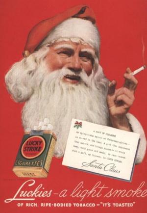 Новогодняя реклама сигарет