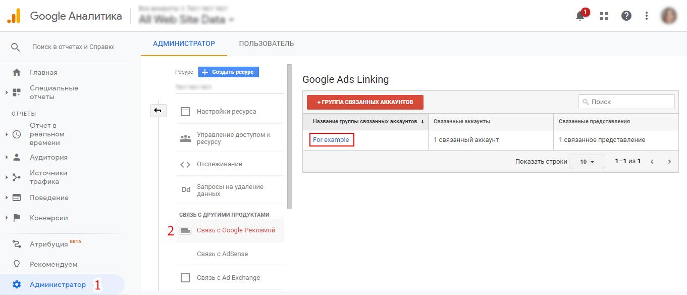 Интеграция ГА и Гугл Рекламы