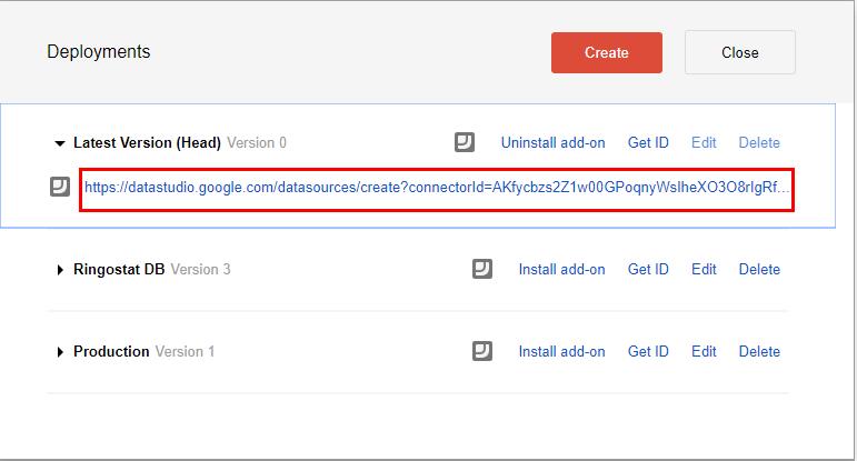 Импорт в Google Data Studio