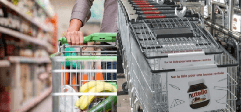 POS-материал — Реклама на тележке супермаркета