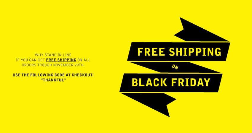 Идея для Черной пятницы — бесплатная доставка
