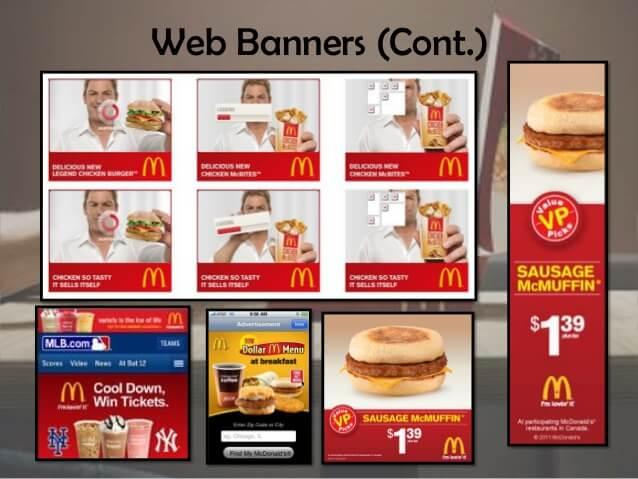 Баннерная реклама Макдональдс