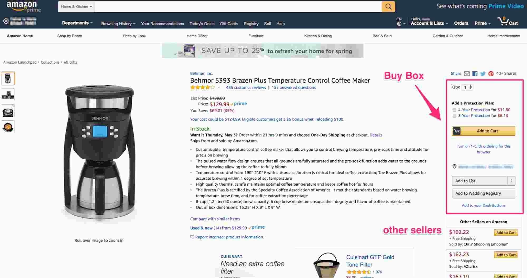 Реклама на Amazon, Buy Box, реклама на амазон, продвижение товаров амазон