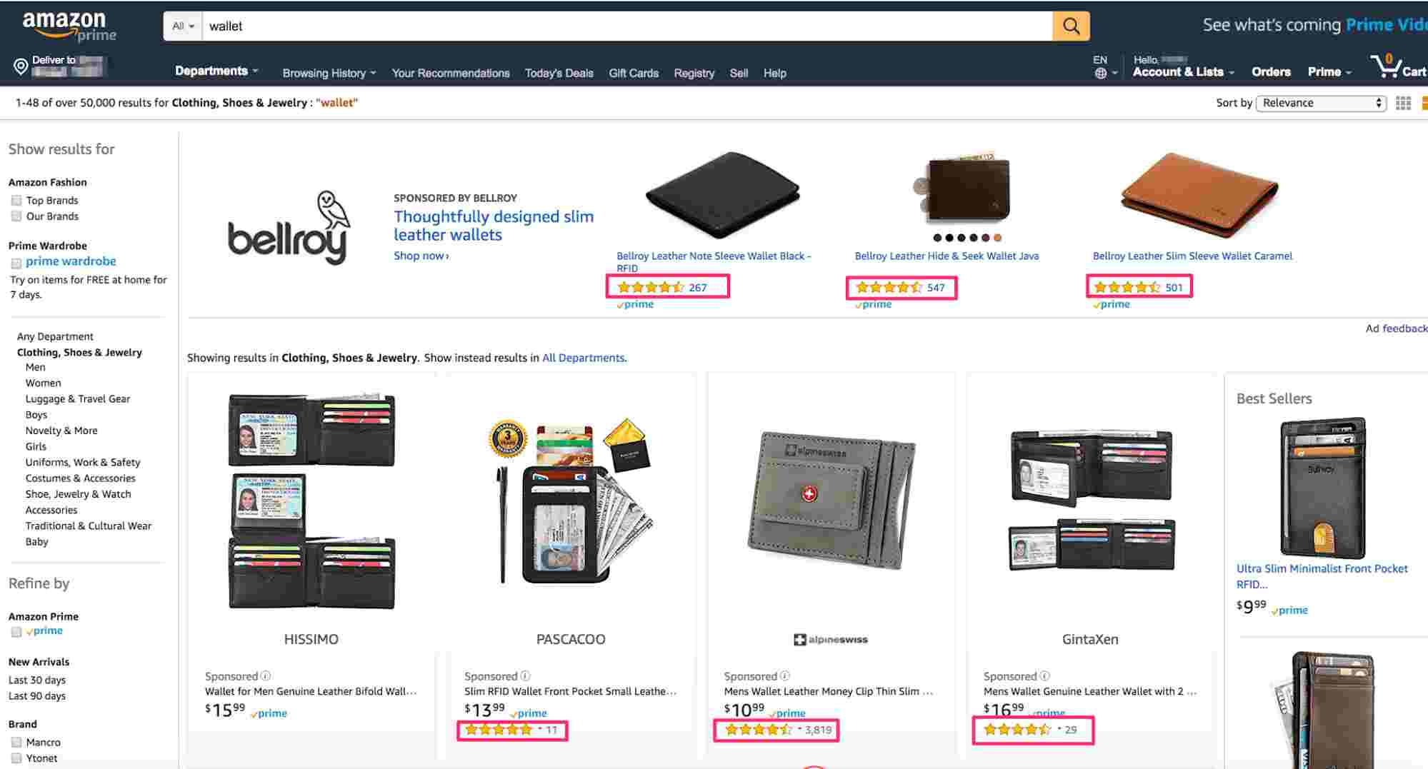 Высокий рейтинг товаров, amazon ppc, ppc in amazon, рейтинг товаров Amazon