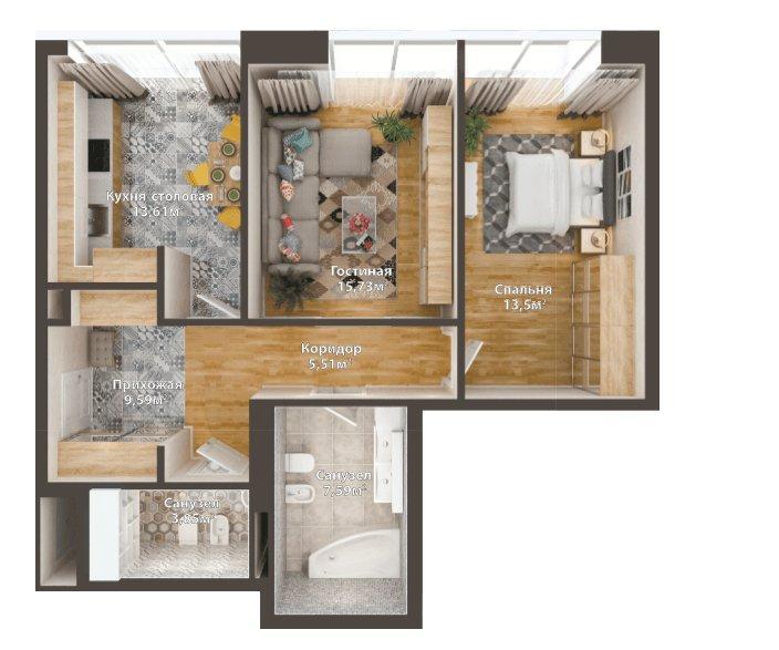 Пример планировки квартиры