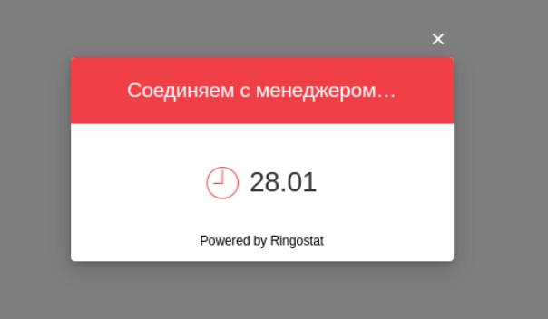 Пример callback Ringostat с указанием времени, через которое состоится обратный звонок