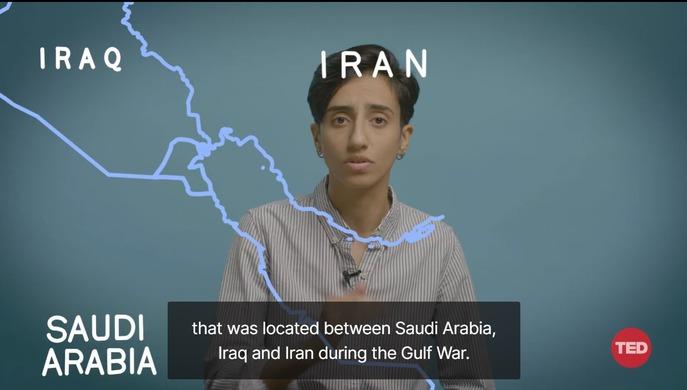 Стоп-кадр из выступления Захра Аль-Махди