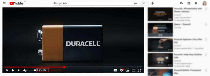 Показ рекламного ролика Bumper Ads, как настроить рекламу на Youtube, виды рекламы на ютуб