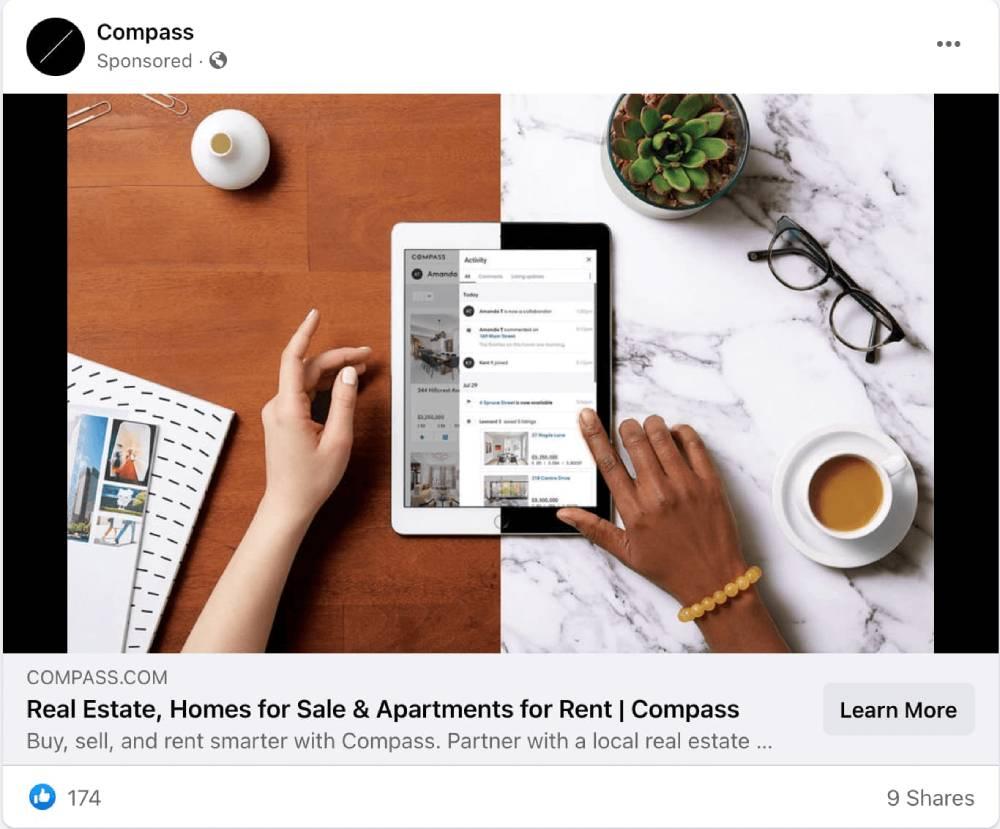 Реклама в Facebook от Compass